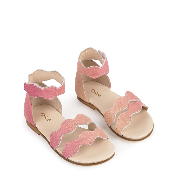Chloe Kids Ombre Pink Leather Sandals