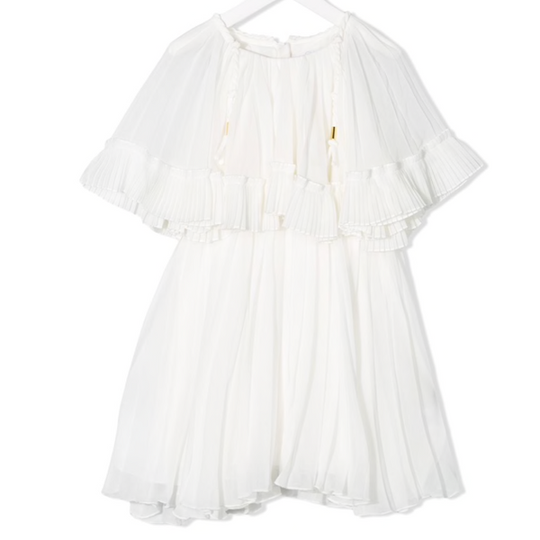 Chloe Kids Greece Inspired Dress With Gold Trim