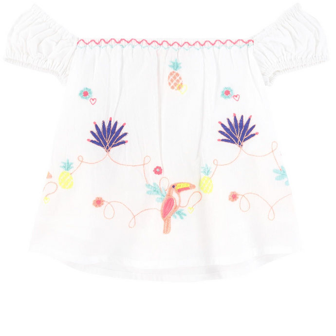 Billieblush Bird Embroidered Top