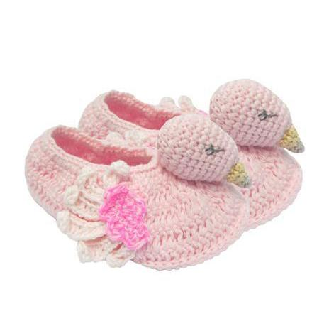 Albetta Crochet Booties - Flamingo