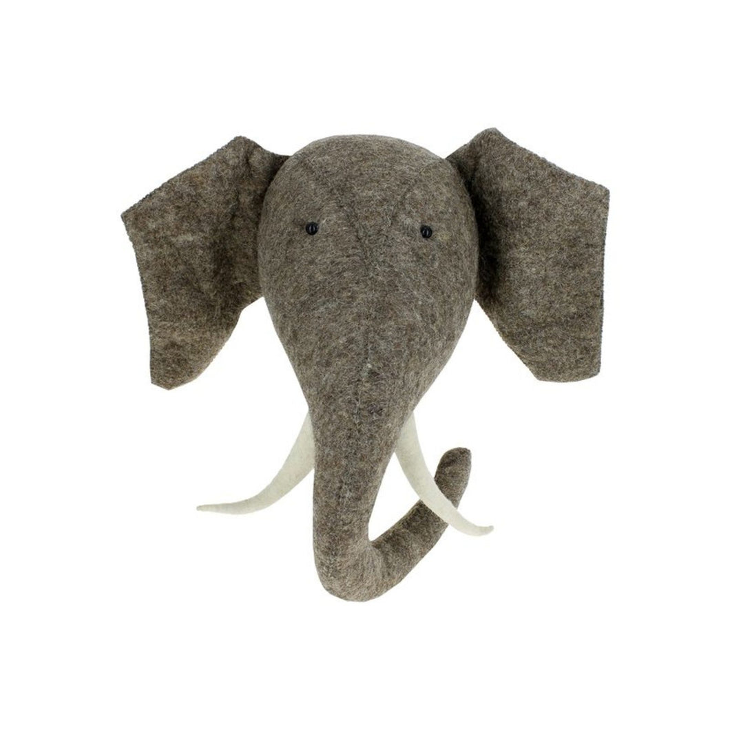 Fiona Walker England Elephant Head w/ Tusks