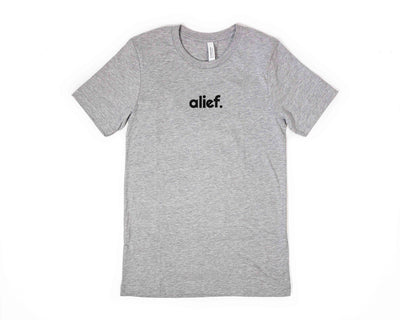 Alief Small Logo Tee - Grey
