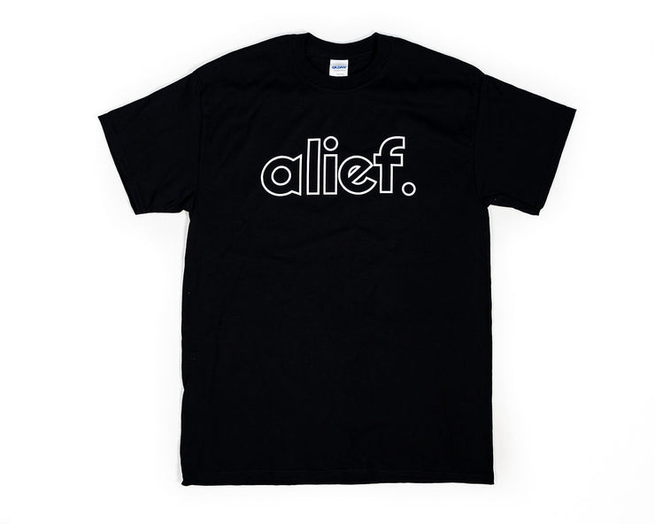 Alief Open Face Logo Tee - Black