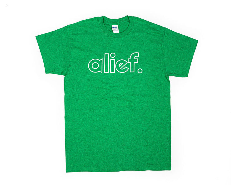 Alief Open Face Logo Tee - Green