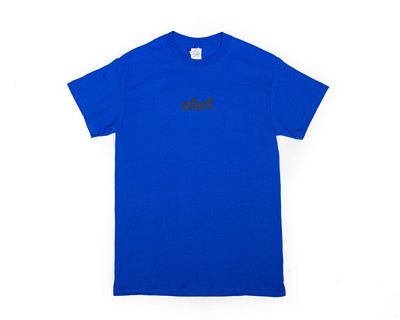 Alief Small Logo Tee - Blue