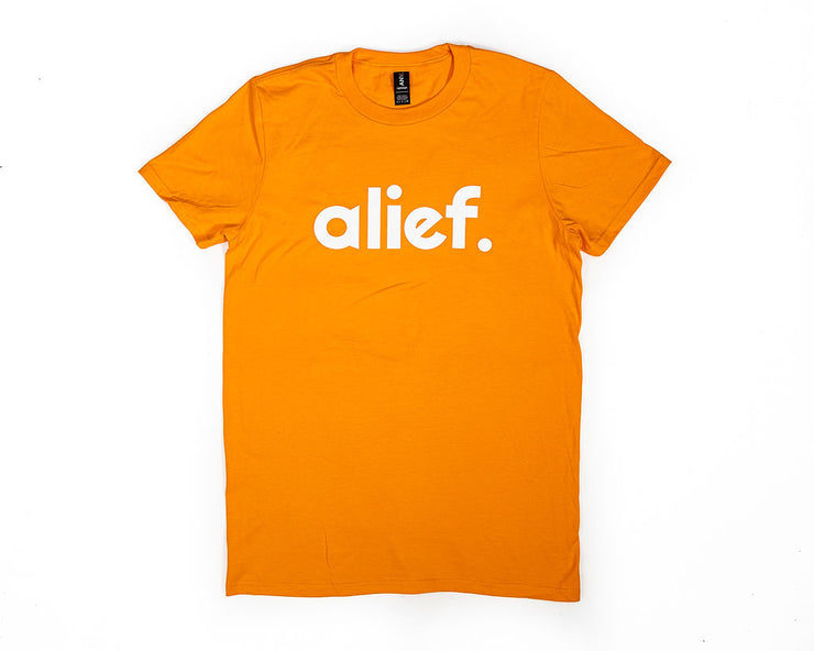 Bold Alief Logo Tee - Orange