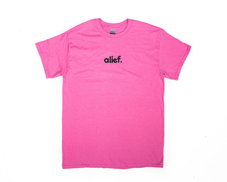 Alief Small Logo Tee - Pink