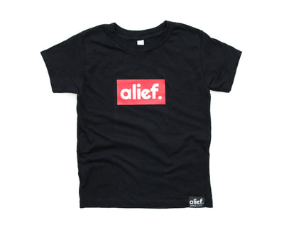 Alief Box Logo Kids Tee - Black