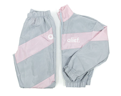Powder Pink and Grey Windbreaker Alief Women Set