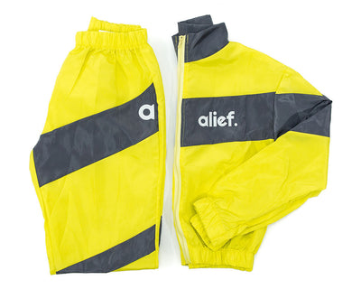 Neon Green Reflective Windbreaker Alief Women Set