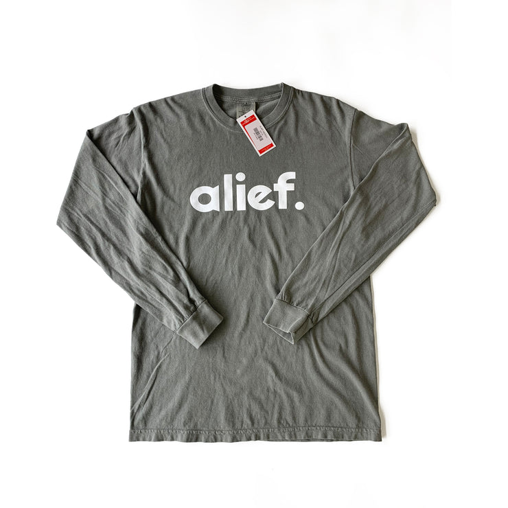 Smoke Grey Pastel Bold Alief Long Sleeve