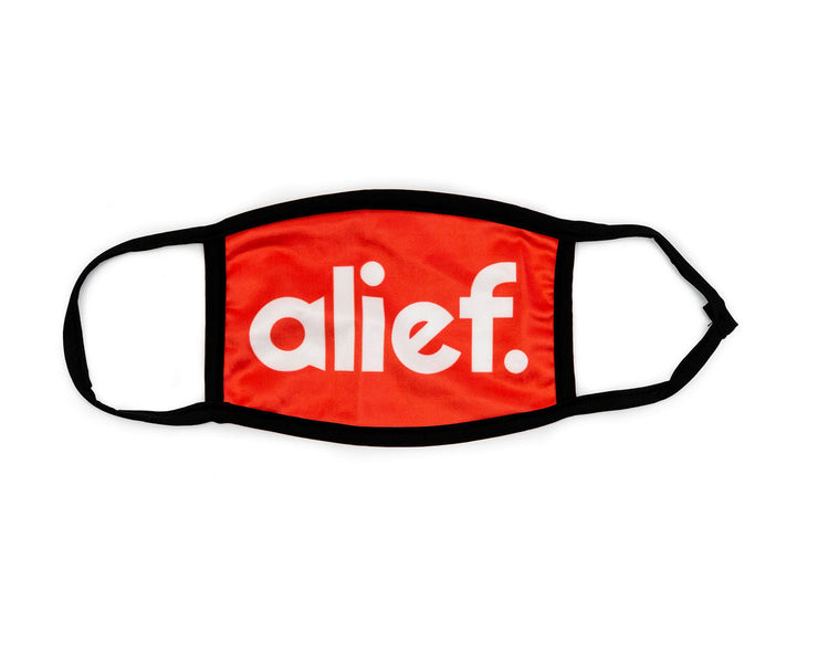 Bold Alief Facemask - Red