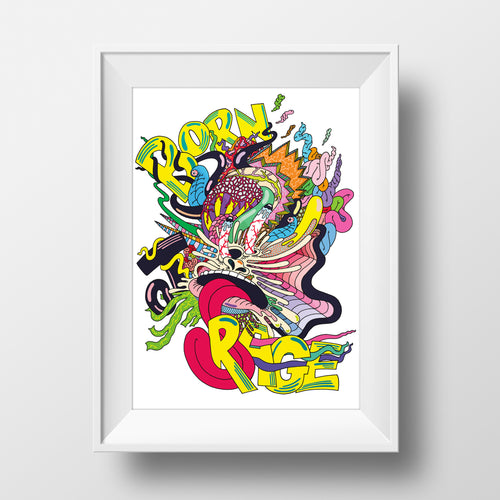 awesome fun cool colourful art illustration print design