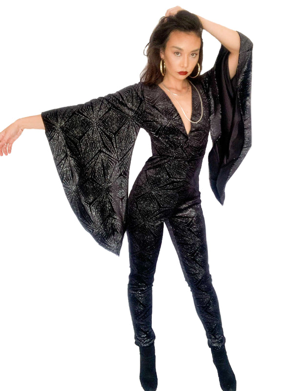 Midnight Starburst Winged Jumpsuit