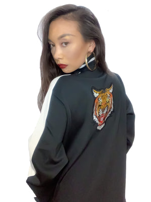 Midnight Tiger Luxe Tracksuit Jacket, Unisex