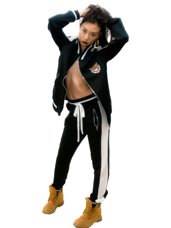 Midnight Tiger Luxe Tracksuit Pants, Unisex