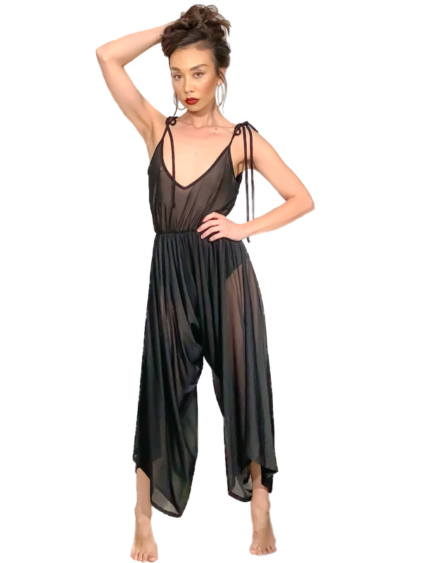 Sheer Cover Up Jumpsuit