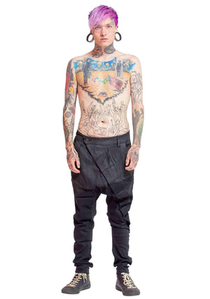 Waxed jeans, industrial denim jeans, vintage jeans, coated denim jeans, waxed denim, waxed denim jeans, futuristic jeans, high end streetwear, designer jeans, designer waxed jeans, waxed streetwear jeans, club clothes, dancing clothes, rave wear, rave clo