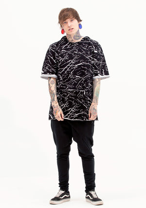 Unisex Clothing, Men's Fashion, Patterned Tee, Black and White, Desert Gear, Festival Clothing, Mens Clothing, Men's Top, Unisex Top, Avant-Garde, New Arrivals
