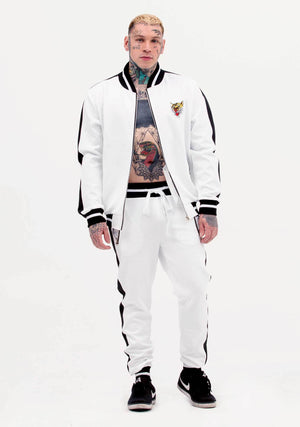Tiger Tracksuit, Tiger, Luxe White Jacket, Women's Fashion, Unisex Fashion, unisex tracksuit, Tracksuit Jacket, Tracksuit, vintage, white track suit jacket, joggers, white tracksuit, coachella fashion, festival fashion