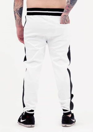 Striped Pants, Black and White, Tiger Tracksuit, Tiger, Luxe White Pants, White Joggers, Women's Fashion, Unisex Fashion, unisex tracksuit, Tracksuit, vintage, white track suit pants, joggers, coachella fashion, festival fashion