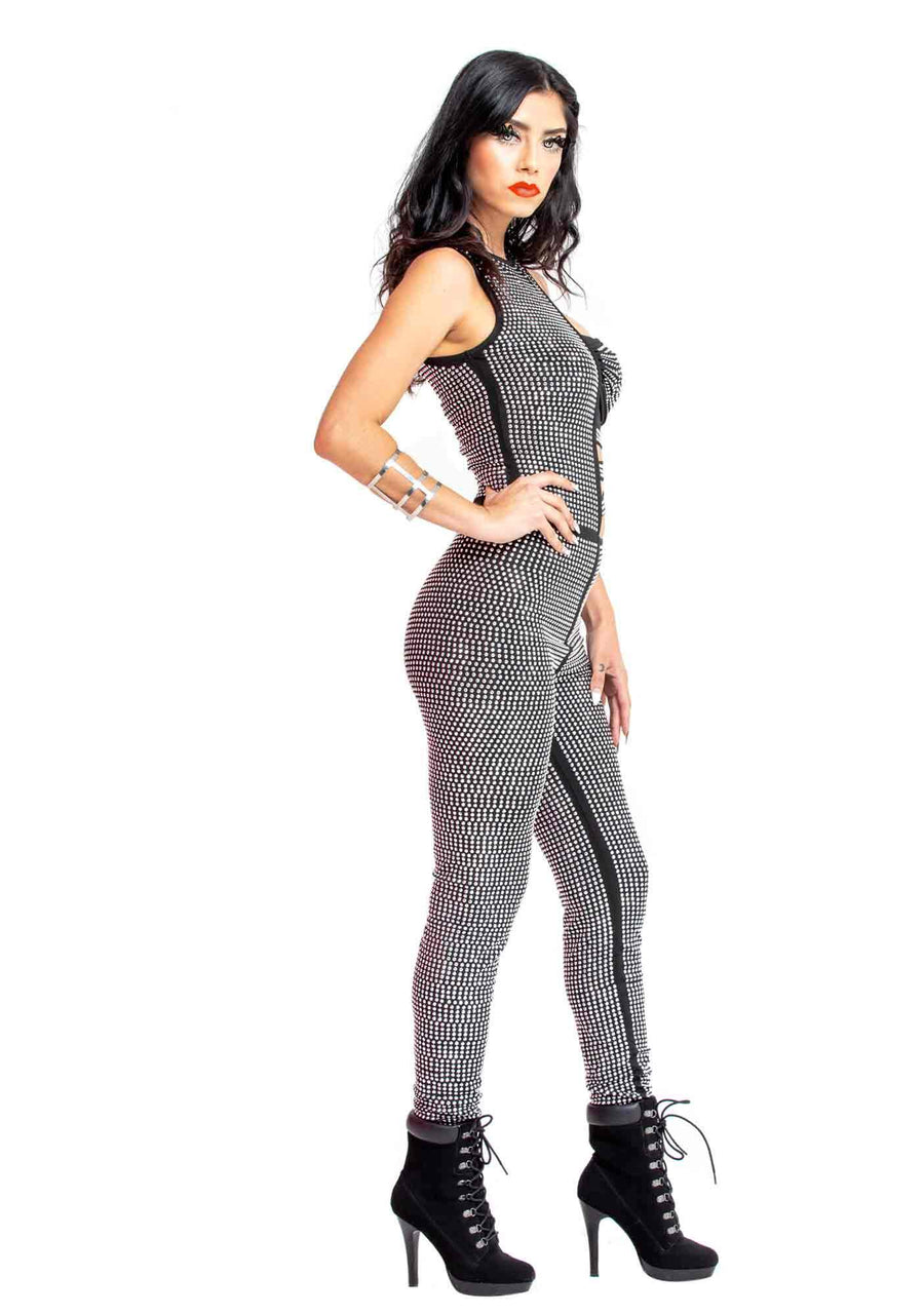 Studded Onsie Jumpsuit, Hard Rock, Rockin Holidays, Strapless Jumpsuit, Jumpsuit with crystals, Festivals, Dance wear, Party Clothes, Club Wear, Holiday Party Clothes, Dancing