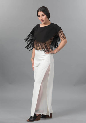 Palazzo, White Palazzo, Pants, Sheer, Halloween, Masquerade, Chic, Timeless, Classic Pants, Womens Essential