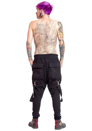 Tactical Wear, Tactical, Utility Pant, Suspenders, Men's Pants, Futuristic pants, pants with pockets, unisex utility pants, rave clothes, break dancing, club clothes, festival wear, festival clothes