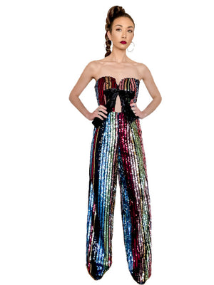 Rainbow Sequin Jumpsuit