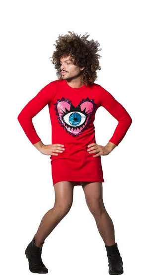 Eye Heart U Red Sweater Dress