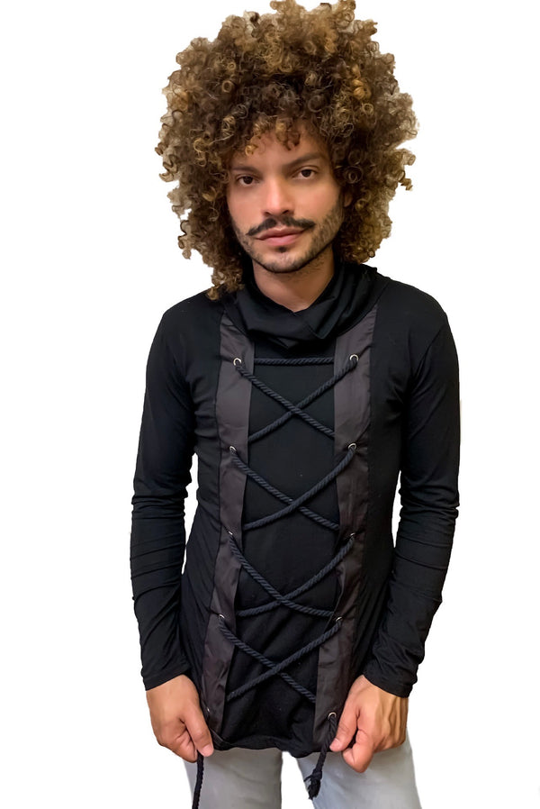 Tie Me Up Unisex Turtleneck