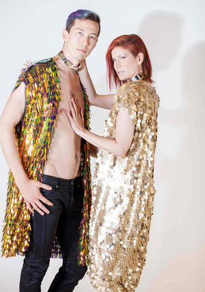 Kimono, Unisex-Outerwear-A Line Called K-Gold Solar Disk-A Line Called K