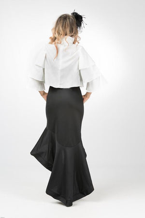 Petals Top-Shirts-A Line Called K-S-Black-A Line Called K