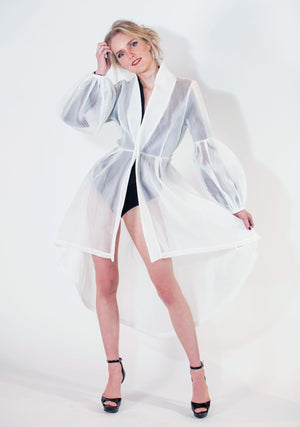 Womens Fashion, Mesh Trench Coat, Mesh Overlay, Tomorrows Overlay Trench, Mesh Kimono, Kimono, Kimono Trench, White, Fall Fashion, Holiday