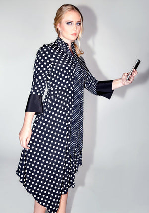 Who Loves Lucy Dress, Women's Fashion, Dress, Polka Dots, Classic Dress, I Love Lucy, Asymmetrical Dress, Fall Fashion, Winter Fashion