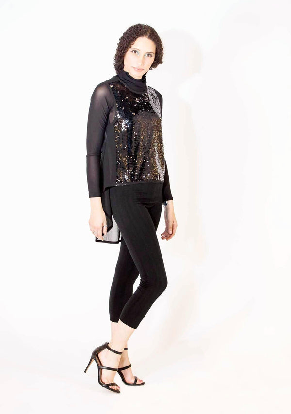 Sequin Hi-Lo Shirt Set-Shirts-A Line Called K-Small-A Line Called K