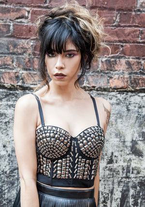 Beautiful Bustier-Shirts-A Line Called K-Silver Rainbow-A Line Called K