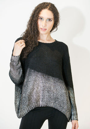 Dipped in Metal Pullover-Top-A Line Called K-Dipped in Gold-A Line Called K