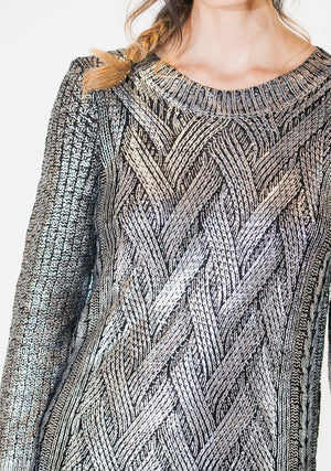 Rubbed in Metal Pullover-Top-A Line Called K-24 Karat Gold-A Line Called K