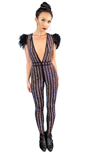 Studded Rock n' Roll Rainbow Jumpsuit
