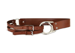 Ralph Lauren Collection Brown Leather Triple Strap Belt