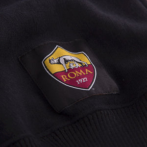 AS Roma Black Out Retro Logo Sweater - ITA Sports Shop