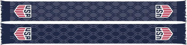 US SOCCER SCARF - BLUE HEX