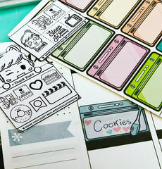 Oven Half Boxes Planner Stickers