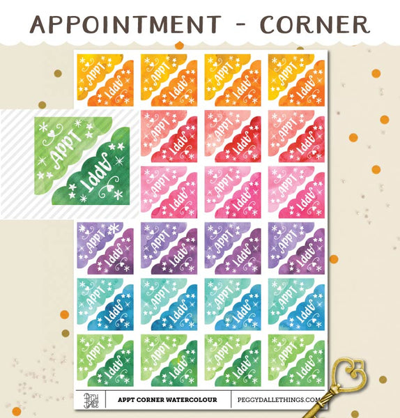Corner Appointment Planner Stickers