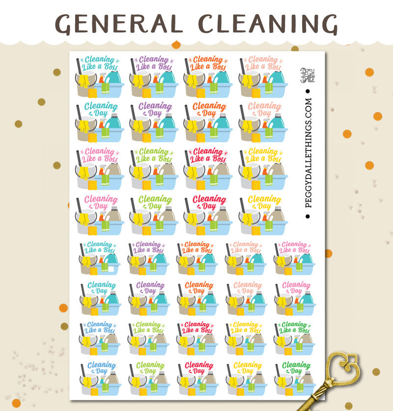Cleaning Planner Stickers | Vacuum | Like A Boss