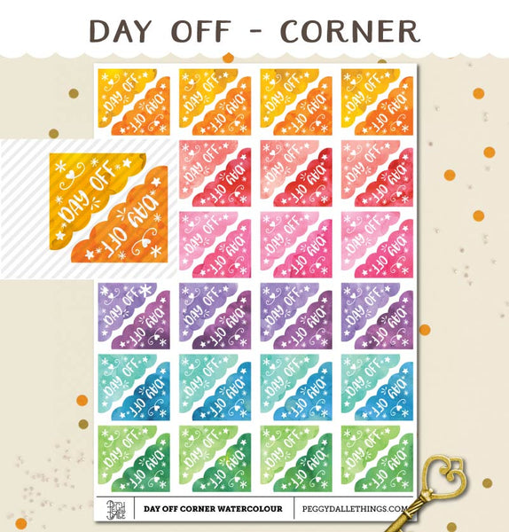 Corner Day Off Planner Stickers