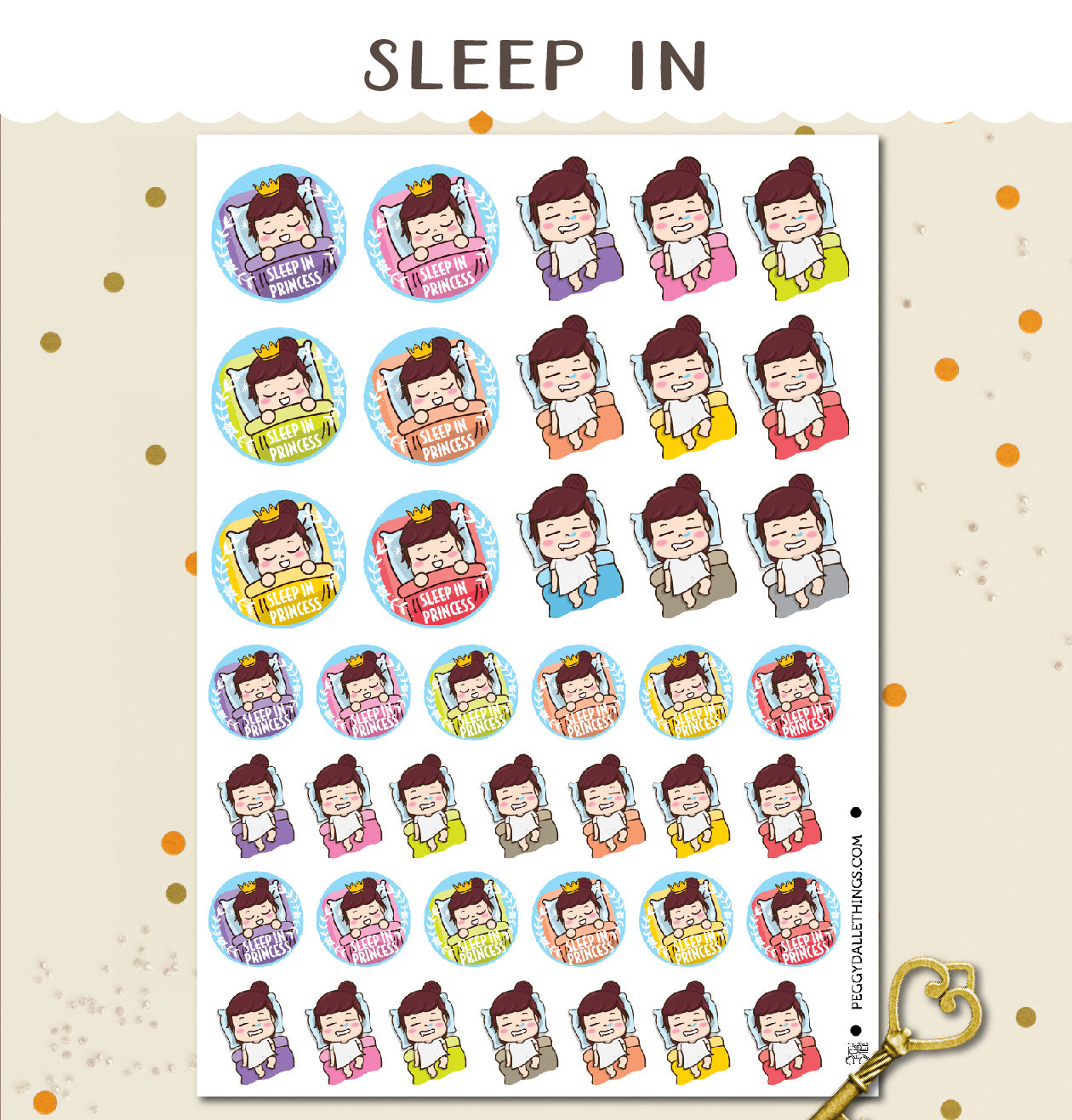 Sleep In Peggy Planner Stickers
