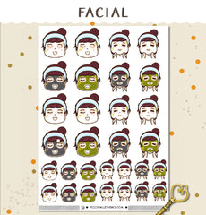 Face Mask Peggy Planner Stickers