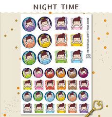 Peggy Sleeping Planner Stickers